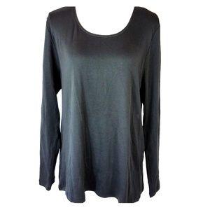 J Jill Size XL Perfect Pima Knit Top Long Sleeve T